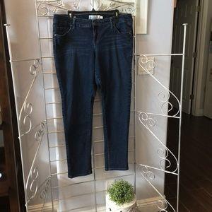 Torrid boyfriend dark blue jeans size 14